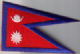 Nepal Embroidered Flag Patch, style 08.
